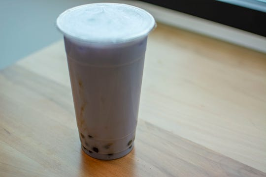 Morning Light Bakery also serves several types of bubble tea, like this purple taro variety. Pictured April 12, 2019.