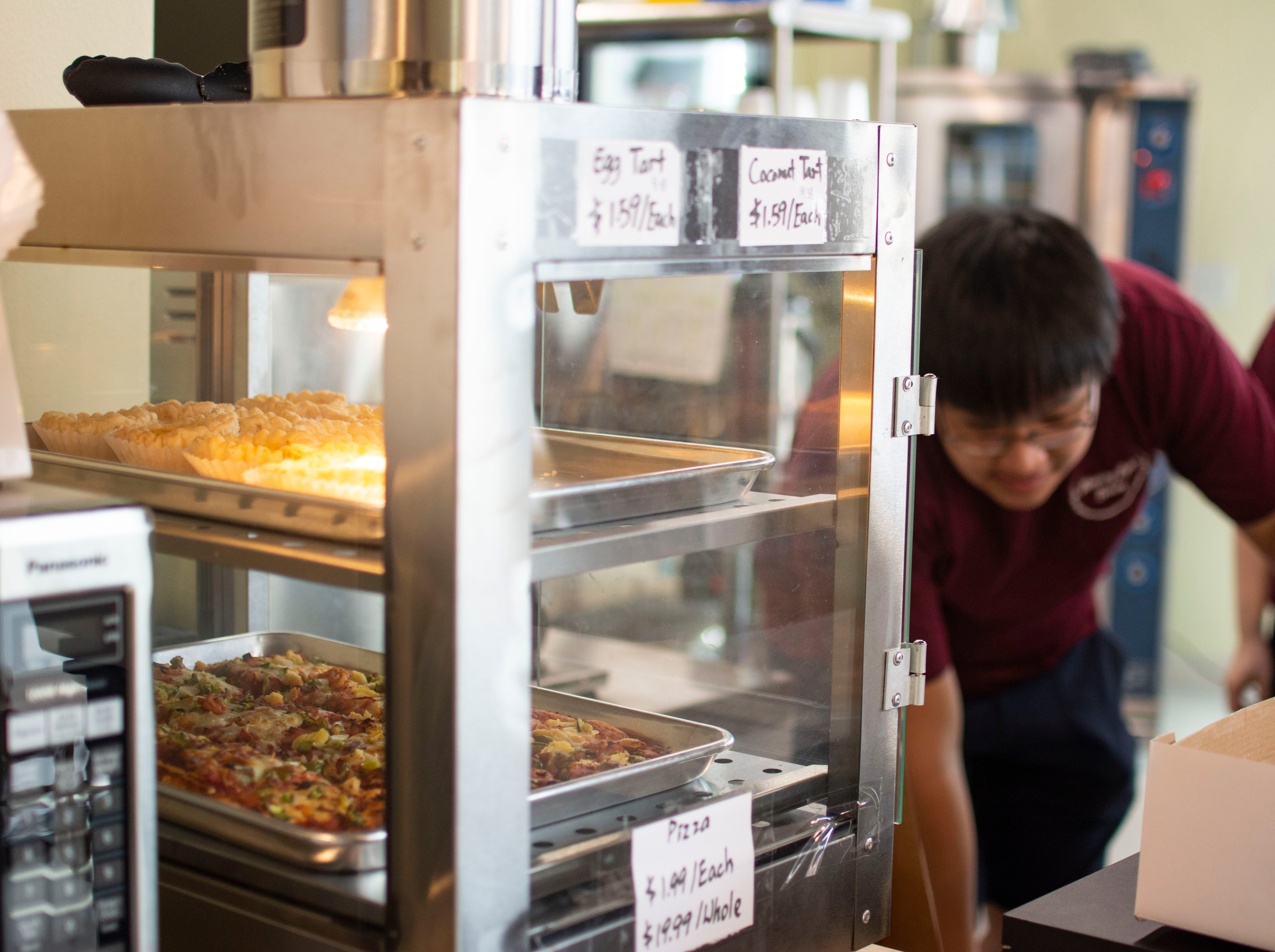 Morning Light bakery also serves slices of pizza