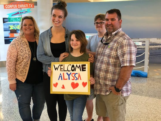 The Houser family met Alyssa Kohls on April 12, 2019. Kohls is a bone marrow donor. Her donation to 11-year-old Laynie Houser saved the girl's life.