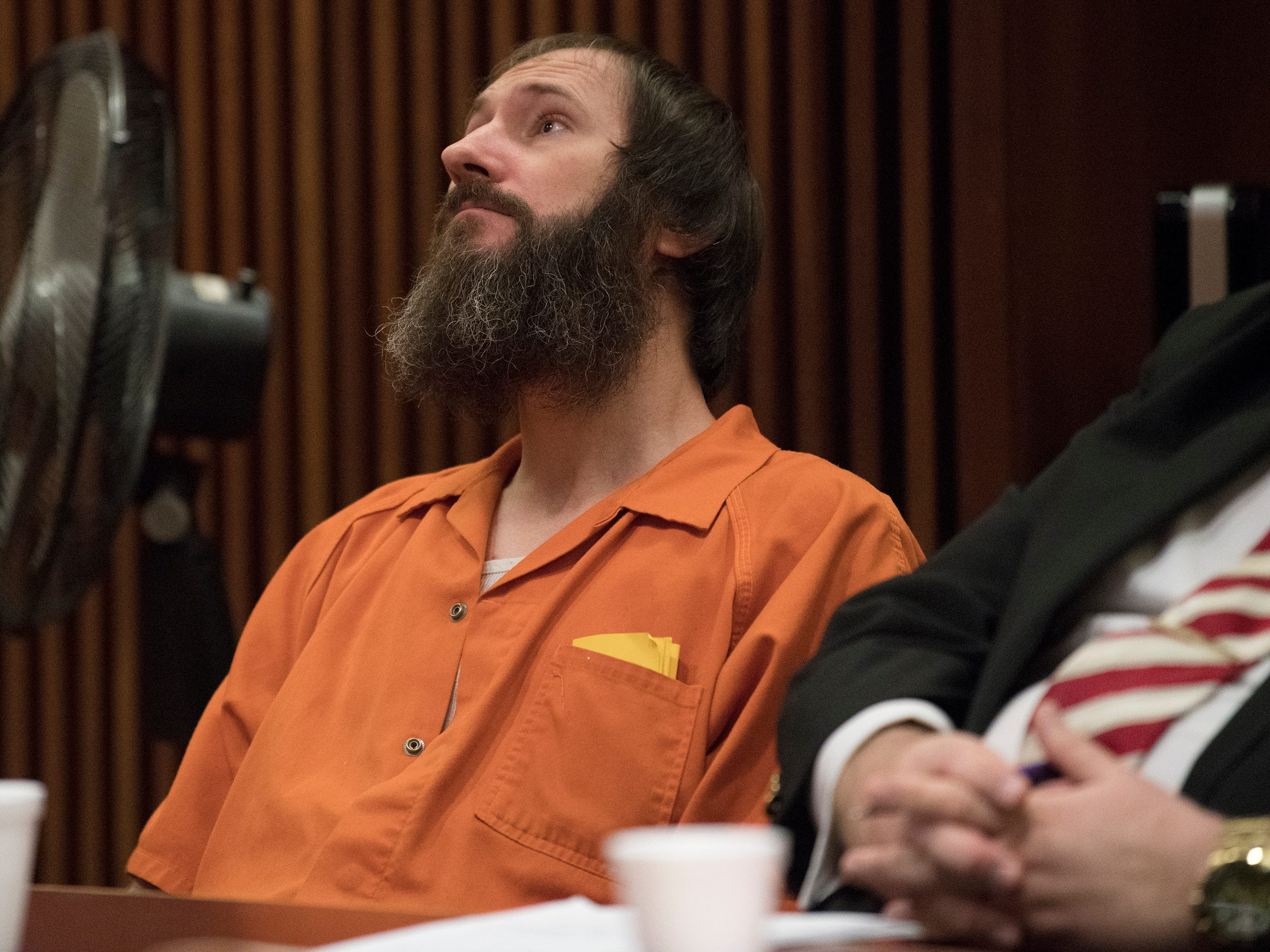 Johnny Bobbitt Jr. appears in a Burlington County Superior Court courtroom to be sentenced on the charge of conspiracy to commit theft by deception on Friday, April 12, 2019.  Bobbitt received a 5-year Drug Court probationary term, including long-term in-patient treatment, for his role in a GoFundMe scam.