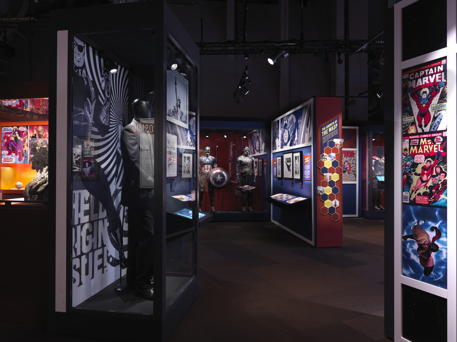Inside the new 'Marvel: Universe of Super Heroes' exhibit at the Franklin Institute.