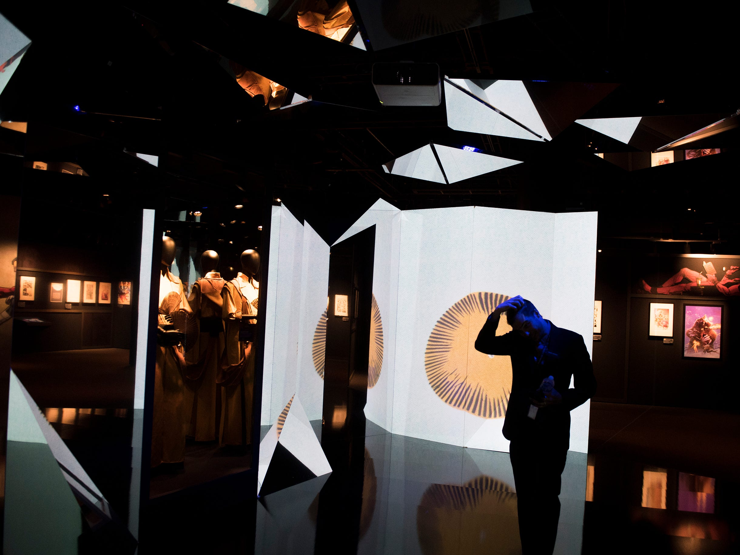 Inside a disorienting Doctor Strange exhibit at the new 'Marvel: Universe of Super Heroes' installation at the Franklin Institute Friday, April 12, 2019 in Philadelphia, Pa. The exhibit runs from April 13-September 2.
