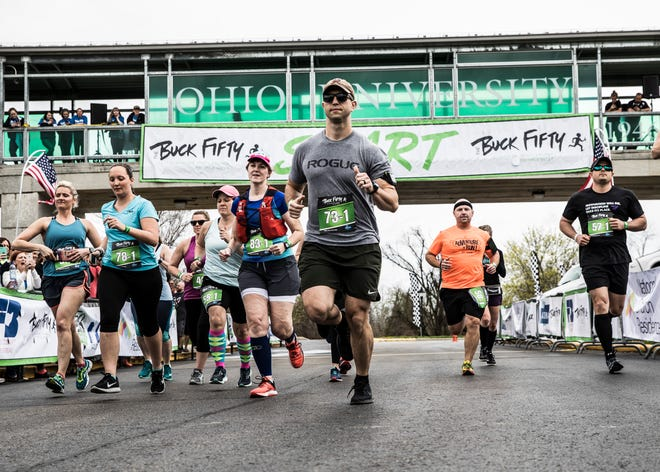 Buck Fifty runners left the starting line at Ohio University Chillicothe in 2019. The run plans a full COVID-safe return in 2021 for it's fifth year.