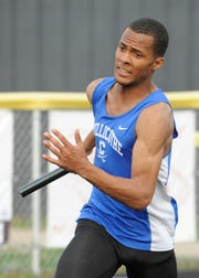 Senior J'Quan Harris  ran in the 4x100 meter relay to help Chillicothe take first place with a time of  45.62 at the Andy Haines Invitational on Thursday, April 11, 2019.