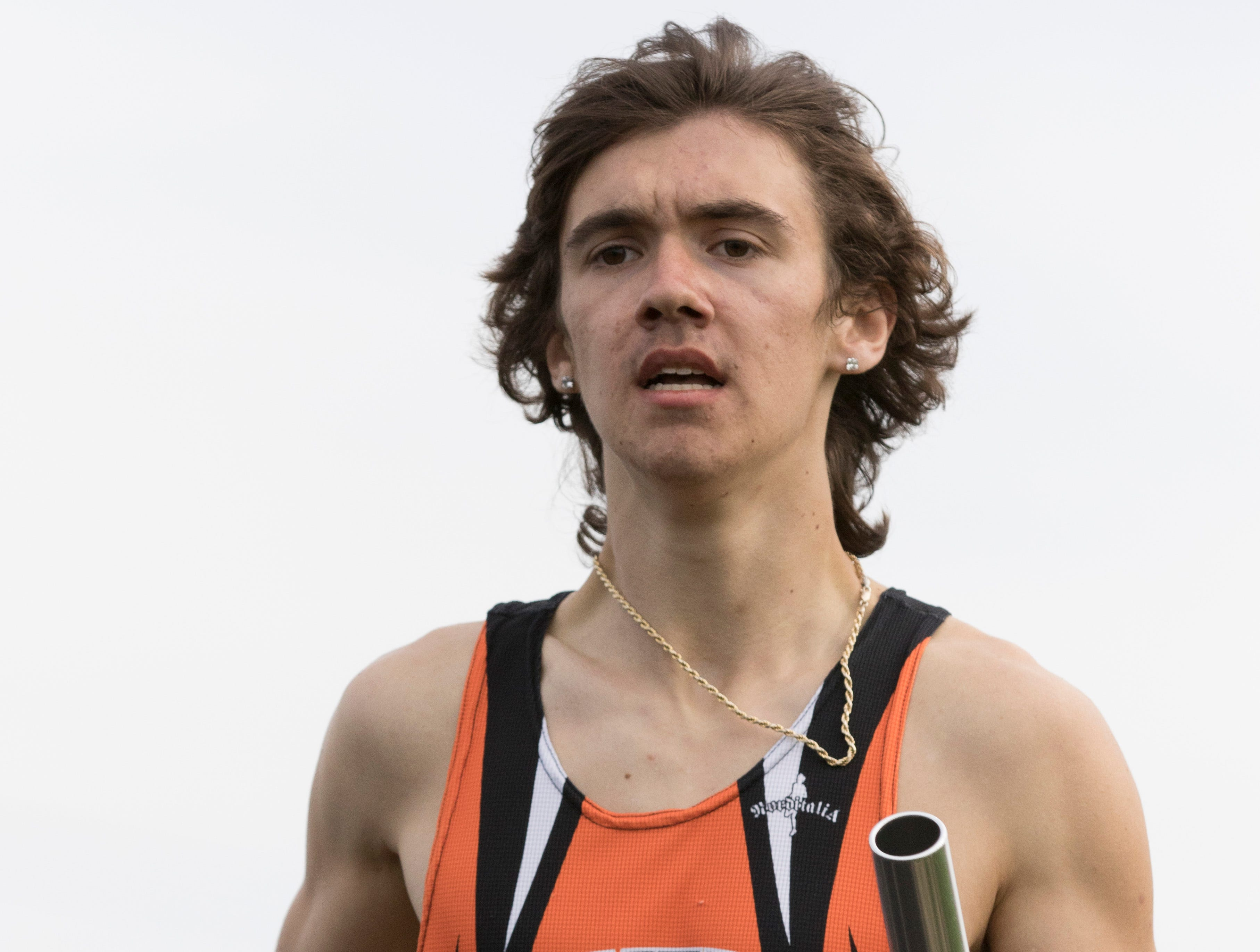 Junior Aidan Judd helped Waverly win the 4x800 meter relay run with a time of 8:48.33 on Thursday, April 11, 2019, at Paint Valley High School with the Waverly men's team taking first place overall.