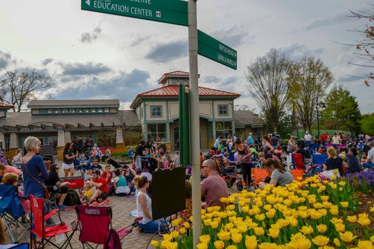 The Cincinnati Zoo and Botanical Garden's Tunes & Blooms concludes April 25 with Mama Said String Band performing.