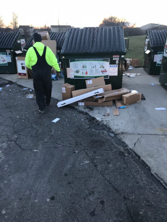 Fairfield Township workers can't keep up with the mess at a public recycling area at Shafer's Run Community Park. So officials are pulling the bins and Dumpsters.