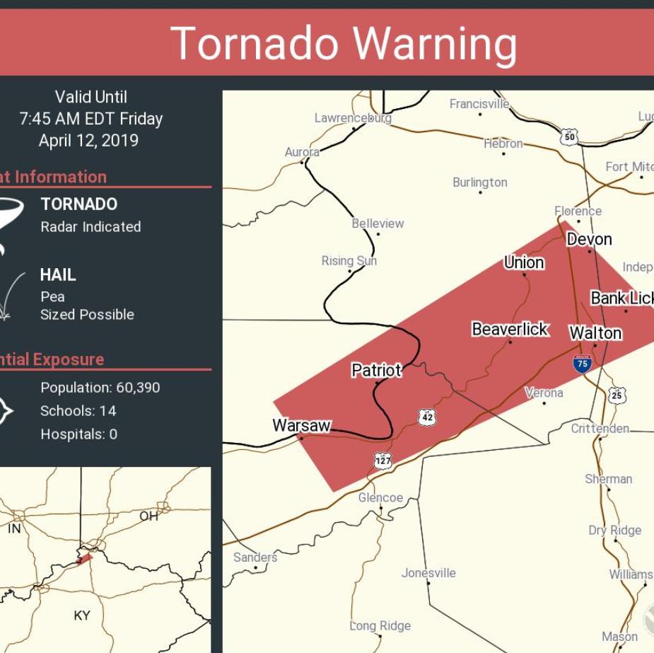Strong storms triggering tornado, thunderstorm warnings