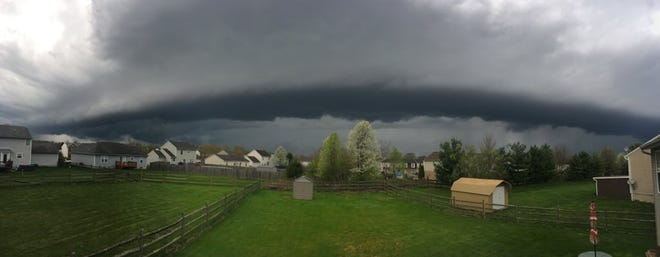View of the storm that came through Batavia on Friday.