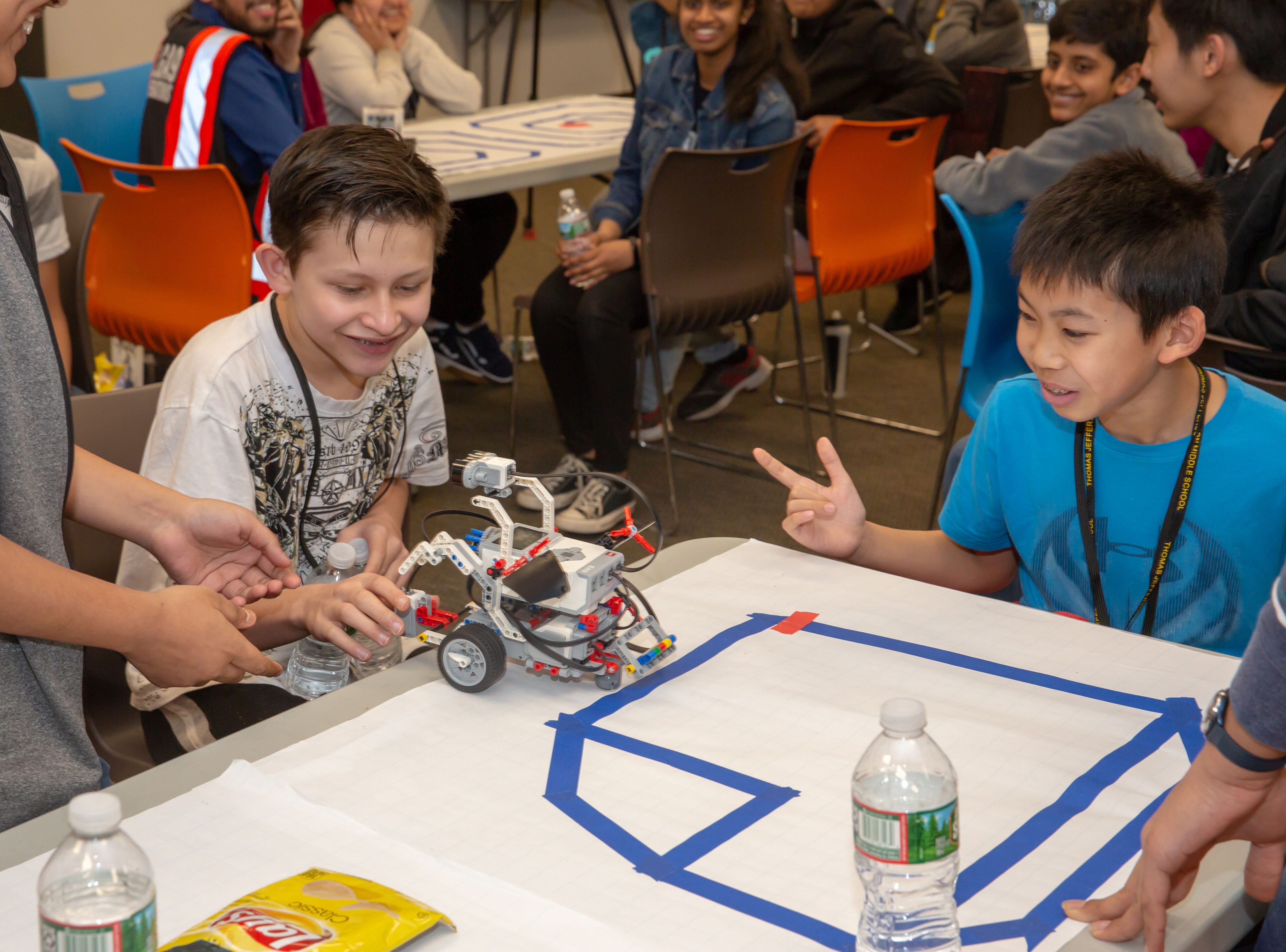 Amazon celebrates National Robotics Week with local middle schools in Edison