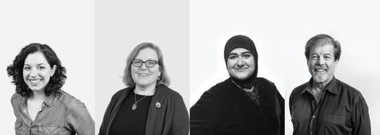 Left to right: playwrights Amy Berryman, Tammy Ryan, Rohina Malik & Joe Sutton.