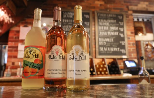 Baltic Mill Winery featuers a dozen wines in a historic former flour mill in downtown Baltic.