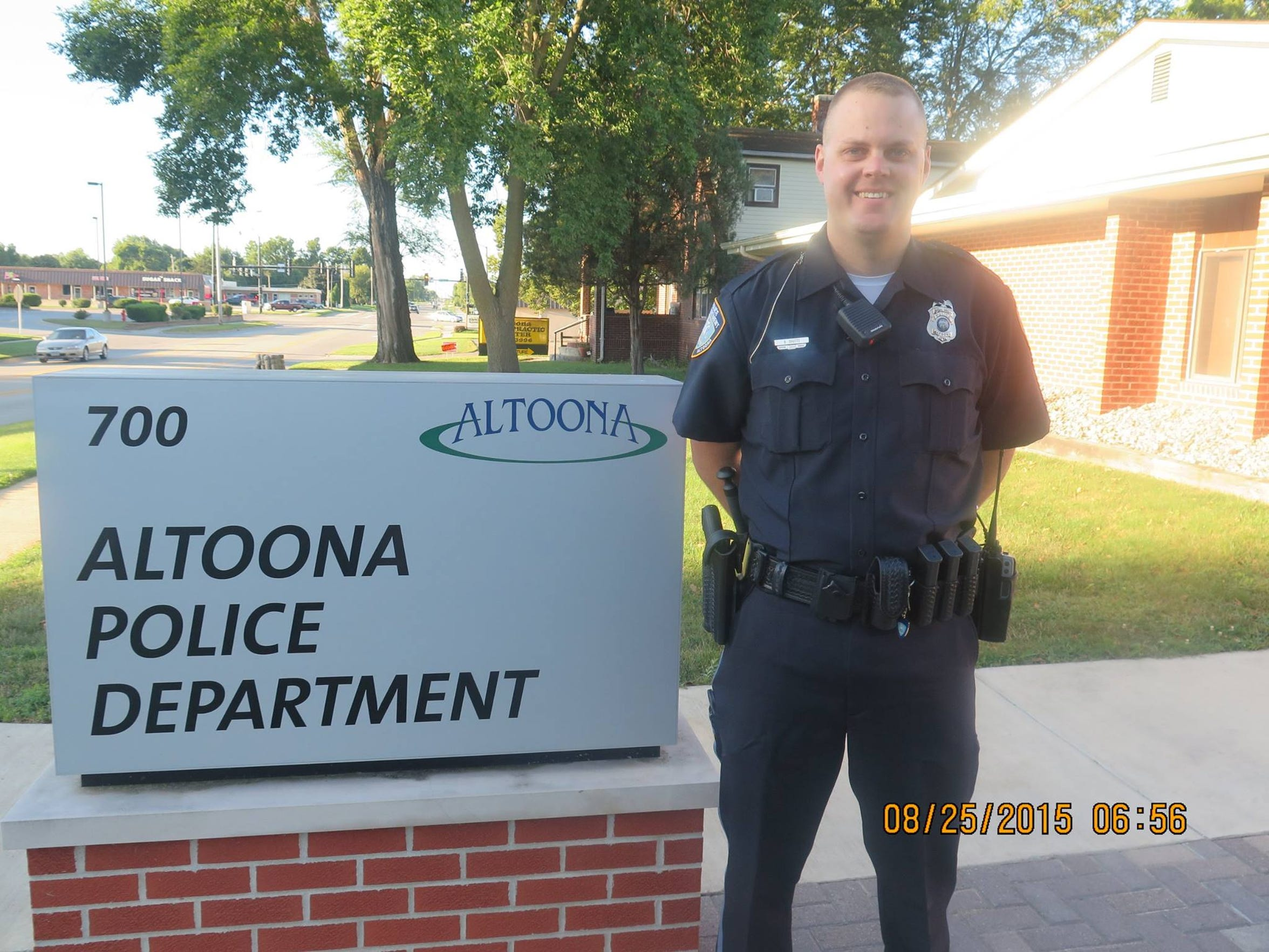 Blaine Shutts, an officer with the Altoona Police Department
