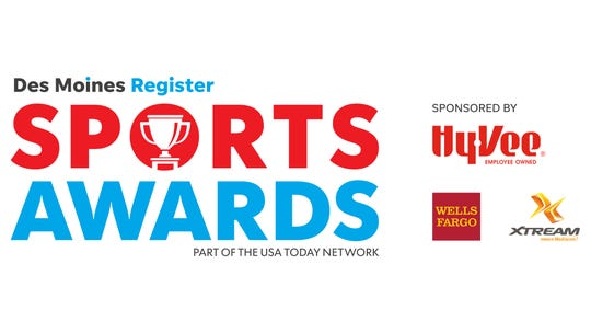 The Des Moines Register Sports Awards are sponsored by Hy-Vee, Wells Fargo and Xtream powered by Mediacom.