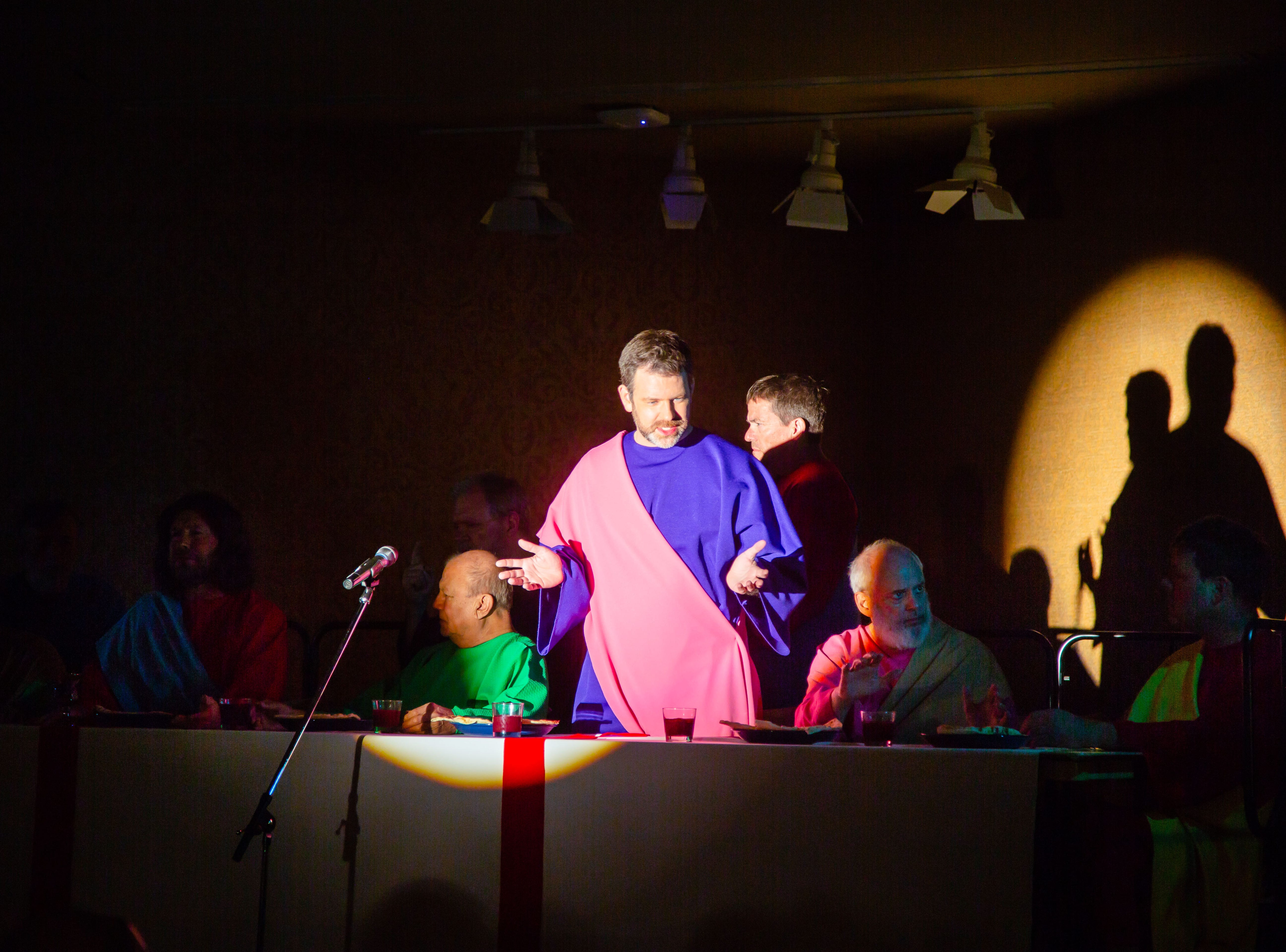 West Des Moines United Methodist Church performs the living dramatization of Leonardo Da Vinci's The Last Supper at Edgewater in West Des Moines Wednesday, April 10, 2019.