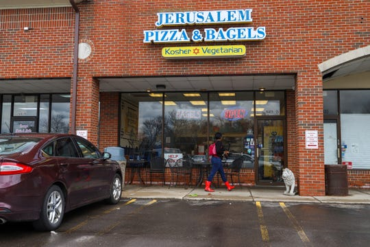 Jerusalem Pizza and Bagels in Southfield, Mich. Is photographed on Friday, April 12, 2019.
