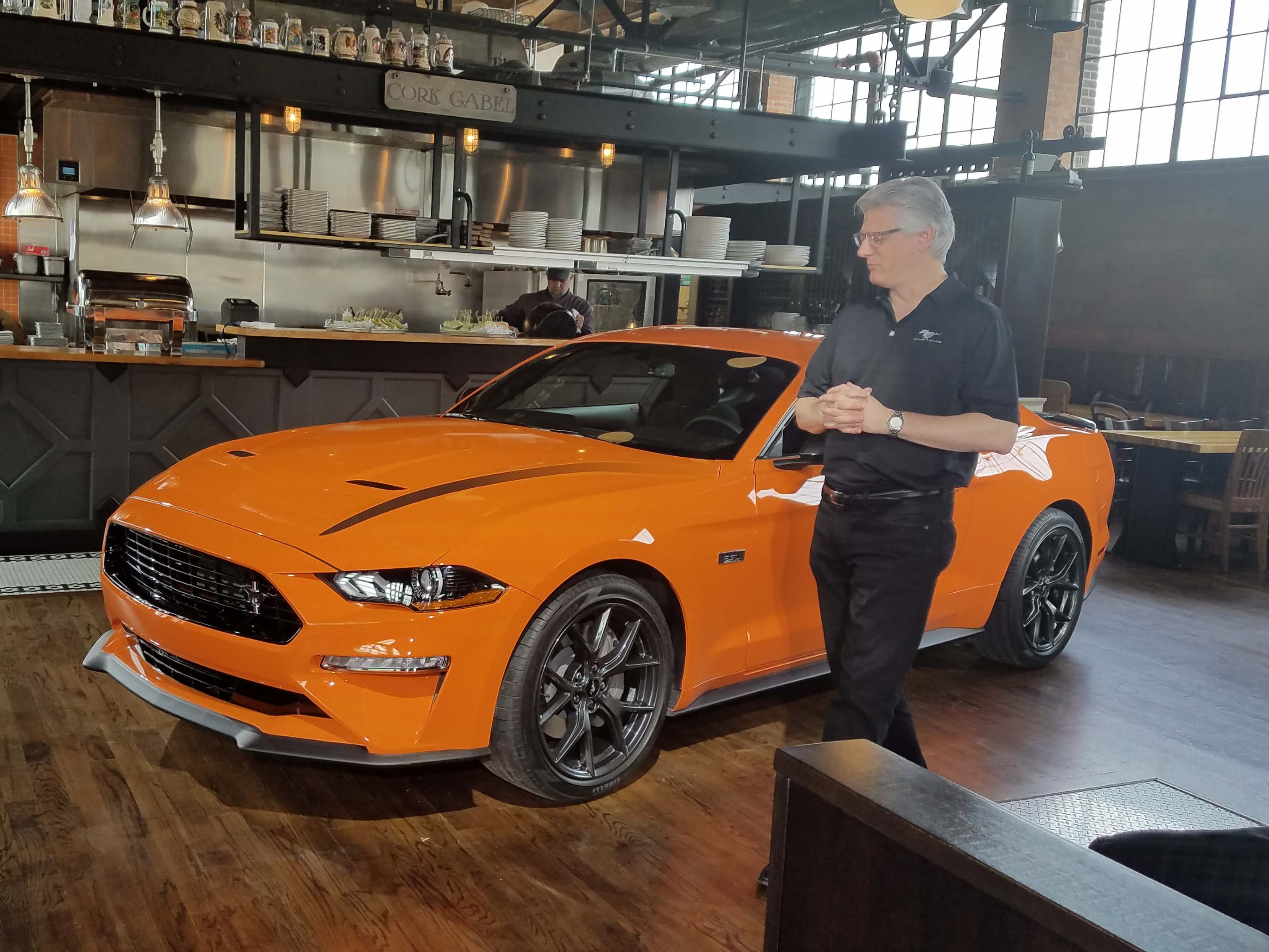 Ford Performance engineer Carl Widmann and his team cooked up the Ford Mustang Ecoboost High Performance in a year — using tools like the retired Focus RS's turbo-4, big brakes, limited-slip differential, and tighter suspension.
