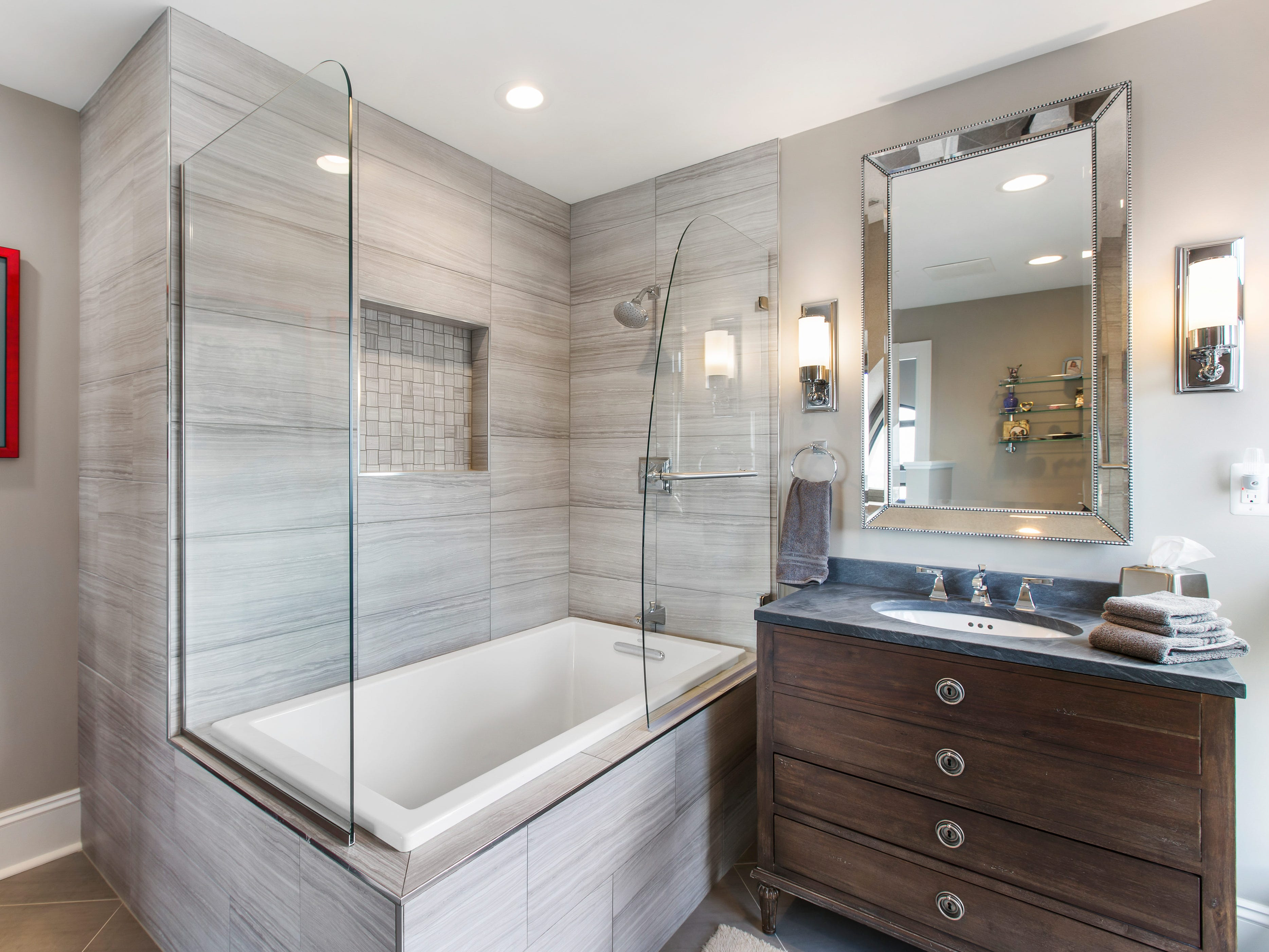 This is a bathtub and shower.