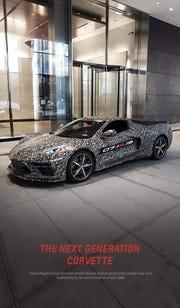 Mark Reuss, President of General Motors, revealed the mid-engine Corvette on his Facebook page on Thursday, April, 11.