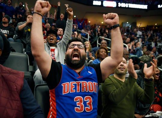 Ahmed AlJorani of Farmington Hills has endured the lean times as a diehard Pistons fan.