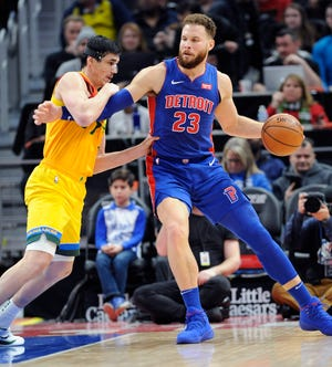 Blake Griffin (23) and the Pistons lost all four regular-season meetings to the Bucks this year.