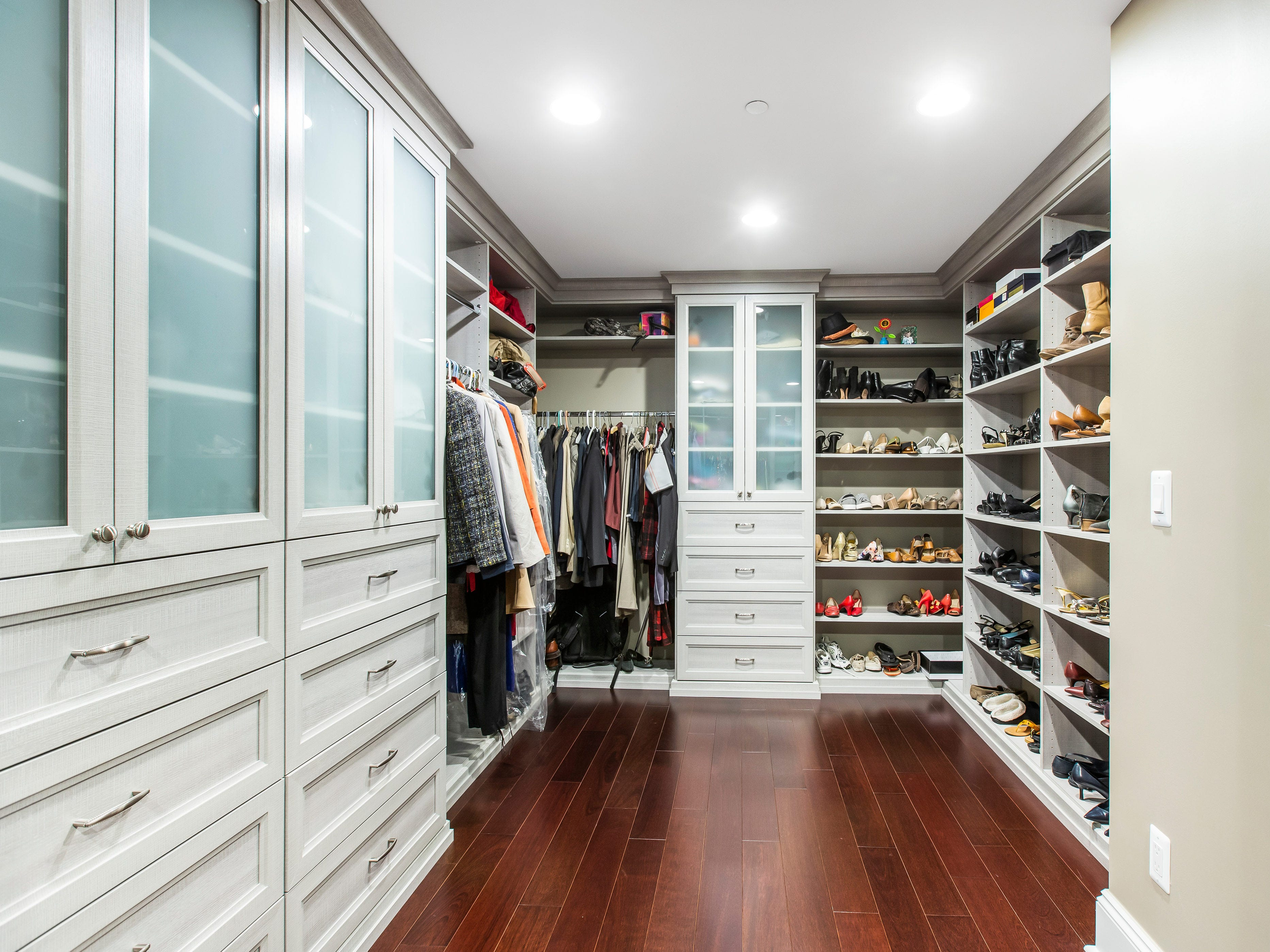 This is a huge, walk-in closet.