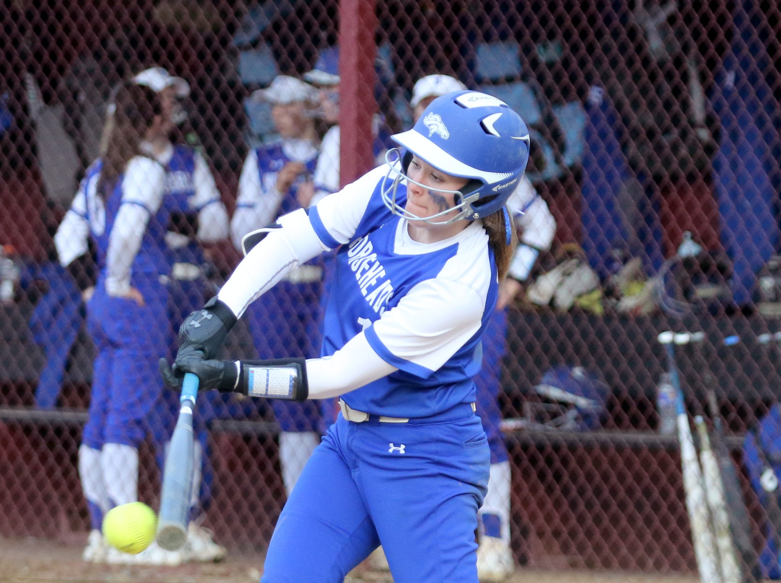 Action from Horseheads at Elmira softball April 11, 2019 at Ernie Davis Academy.