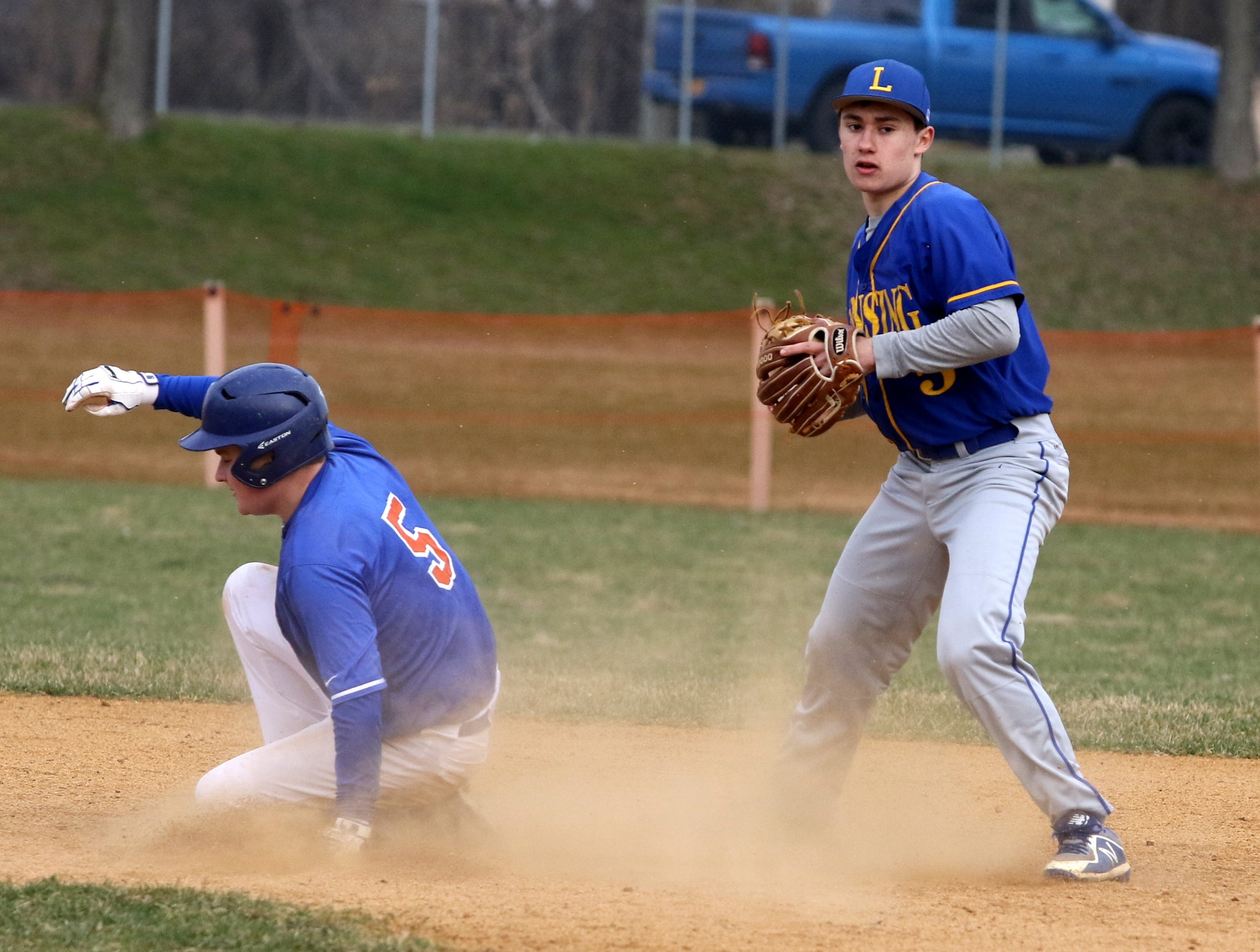 Action from Lansing at Thomas A. Edison baseball April 11, 2019 in Elmira Heights.