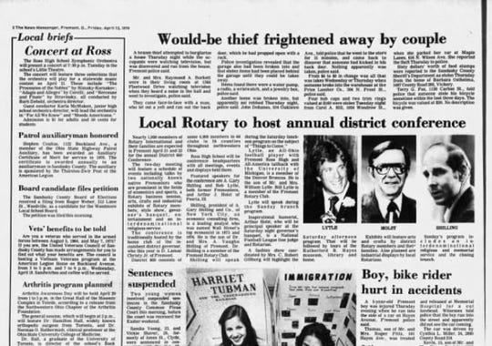 The News-Messenger of April 13, 1979 contained no earthshaking local news, but there were a few items that could trigger memories and tell us something about the community then and now.