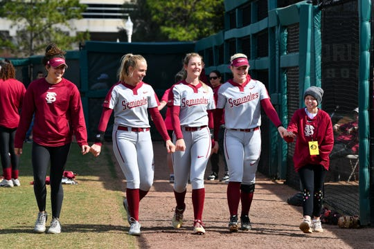 The entire Florida State softball team draws inspiration from Hayden Stone's resilience and unwavering spirit.