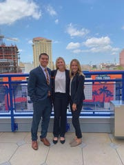 From left to right, Vincent Wong, Chelsea Boretti and Morgan Costopoulos are all members of Florida Sate's Sport Management Student Association.