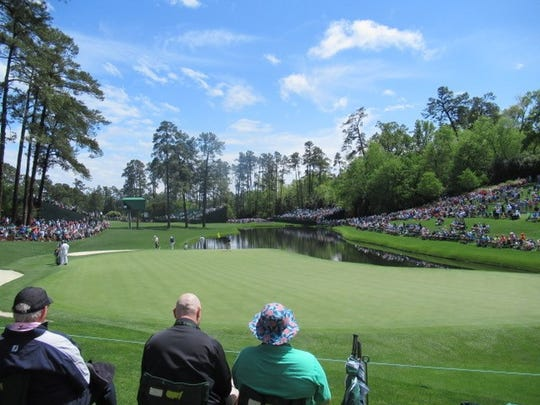 Even the Masters practice round draws a good crowd to Augusta National.