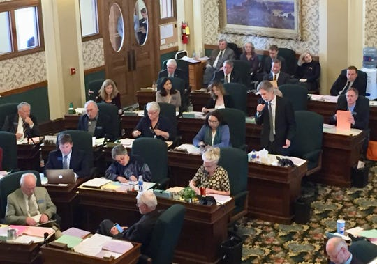 Sen. Minority Leader Jon Sesso, D-Butte, requests Friday that the Medicaid expansion bill be brought back to the Senate floor. The motion failed.
