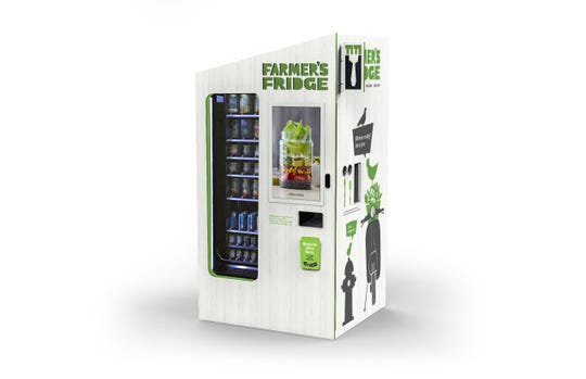 Farmer's Fridge healthy food vending machines are coming to Indianapolis on April 30.
