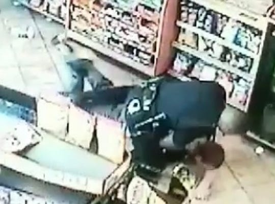 Christopher Knox was suffering an epileptic seizure when his family says Officer Maurice Norris used excessive force and arrested him a Speedway gas station on March 30, 2018. The incident was captured on security video.
