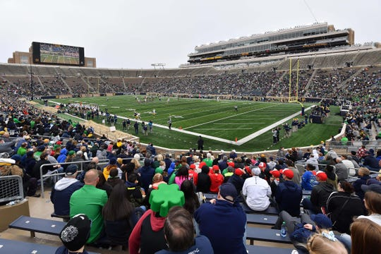 For viewers on TV, Notre Dame's spring game will have a new look.