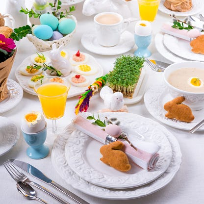 Easter brunches fill up fast. Getty Images