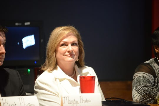 Jackson City Council District 7 candidate Marda Wallace during the Madison County Republican Party election forum at Rock N' Dough on April 8 in Jackson, Tenn.