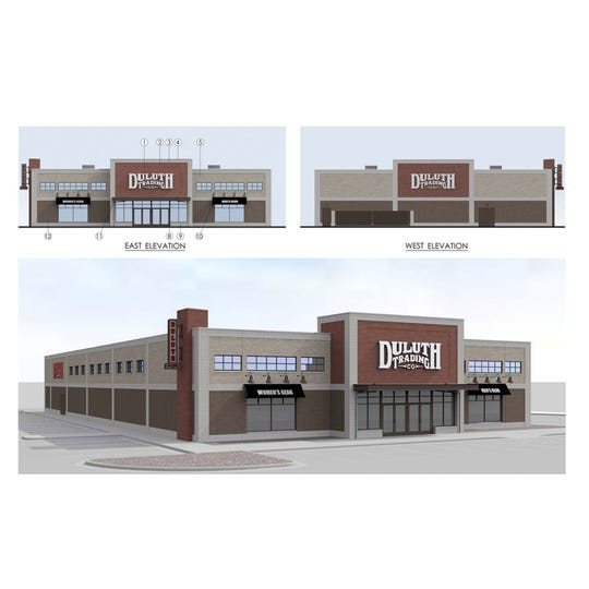 Rendering of Tennessee's first Duluth Trading Co. store, planned for Kingston Corner shopping center.