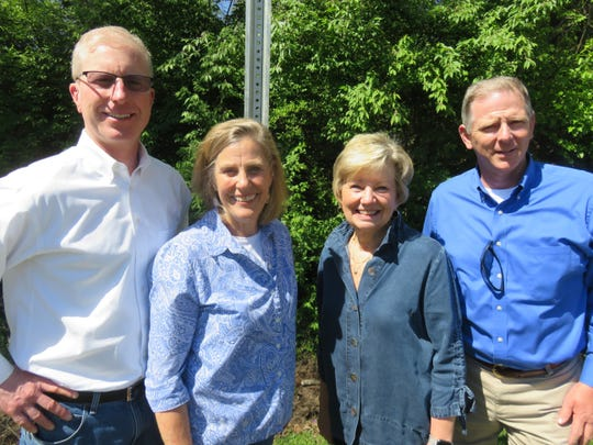 West Hills volunteers involved in helping get West Hills designated as a Healthier Tennessee community are, from left, John Heins, Anne Crais, Fay Adams and Donnie Ernst.