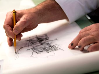 Watch Knoxville architect Daryl Johnson, founder of Johnson Architecture, hand sketch a house design