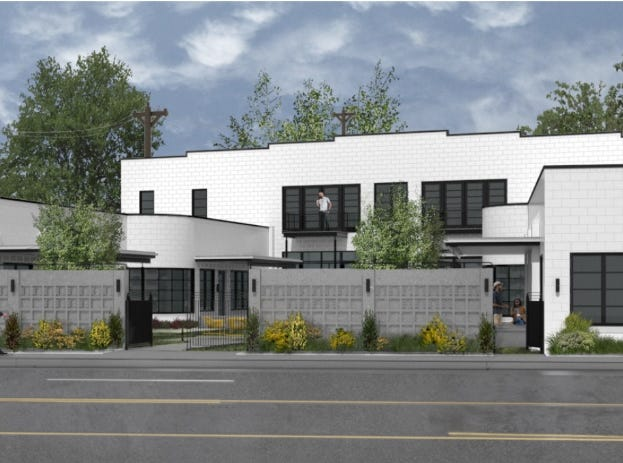 A rendering of the Taggart Building after it's renovated. December 2018.