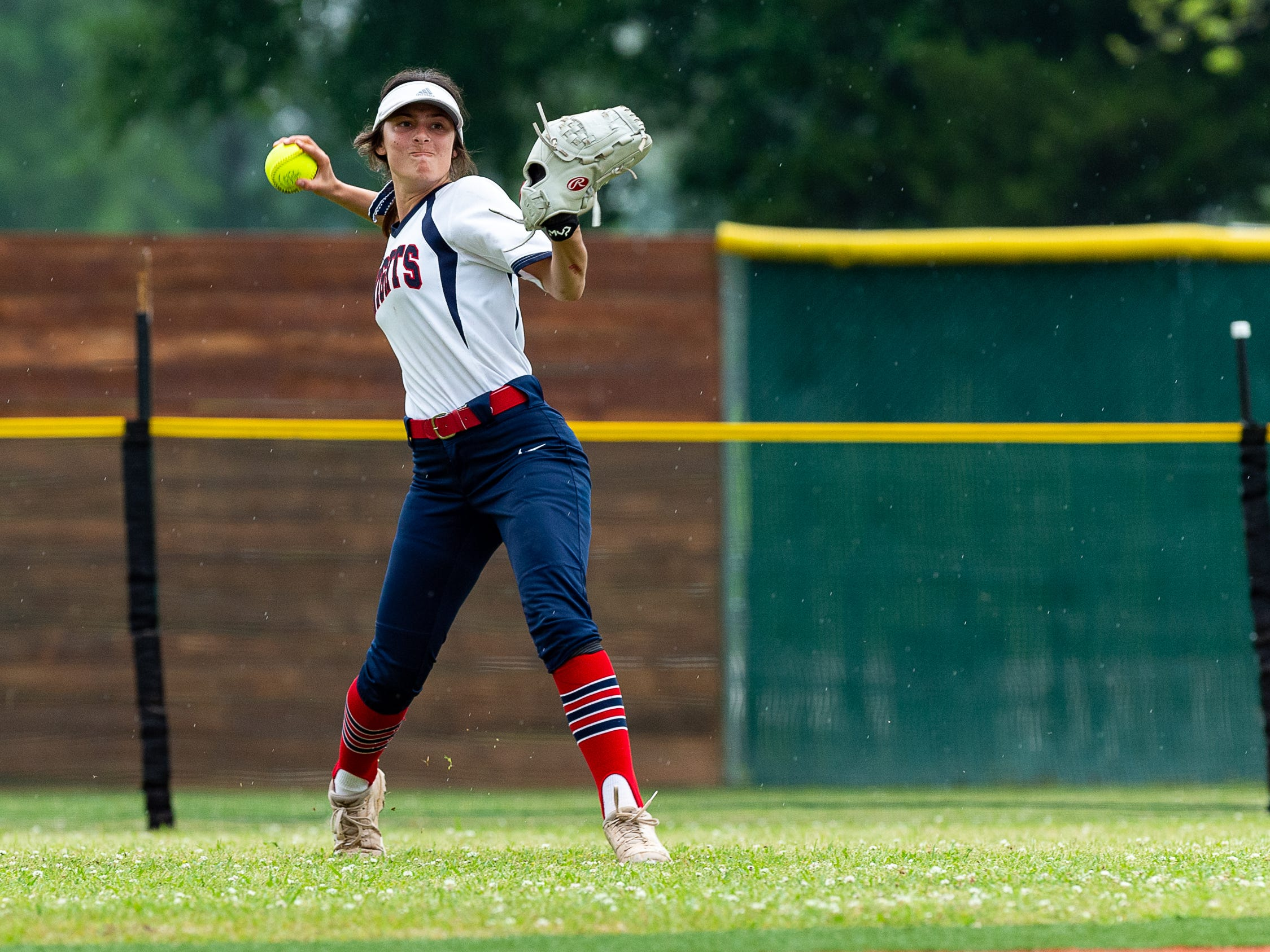 Outfielder Alyse Boudreaux  as Lafayette Christian Academy softball takes on University Academy in the forst round of the LHSAA playoffs. Friday, April 12, 2019.