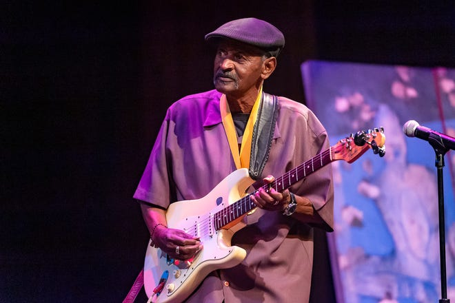Lil' Buck Sinegal performs after receiving the Lifetime Achievement Award at The 2019 Icon Arts & Cultural Awards Gala honoring Acadiana's Legends on Thursday, April 11, 2019.