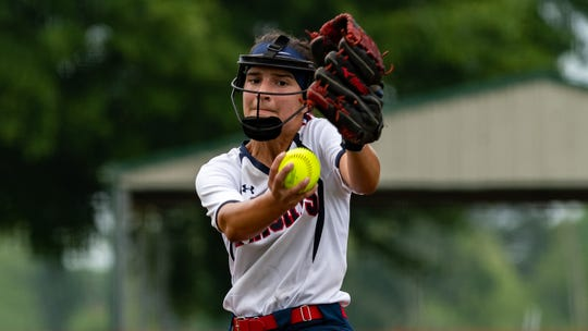 LCA pitcher Janci Aube' was named to the Class 1A All-State Softball first team.
