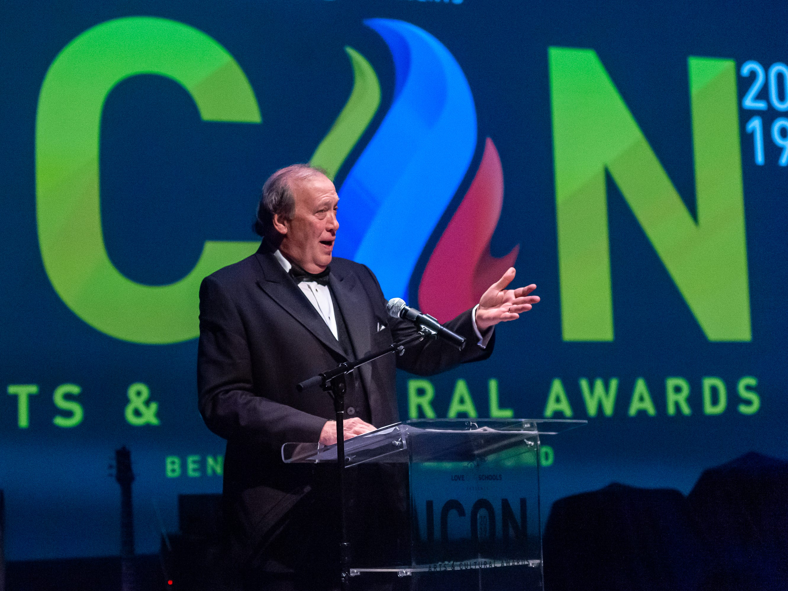 Randy Haynie receives the Patron of the Year Award at The 2019 Icon Arts & Cultural Awards Gala honoring Acadiana's Legends. Thursday, April 11, 2019.