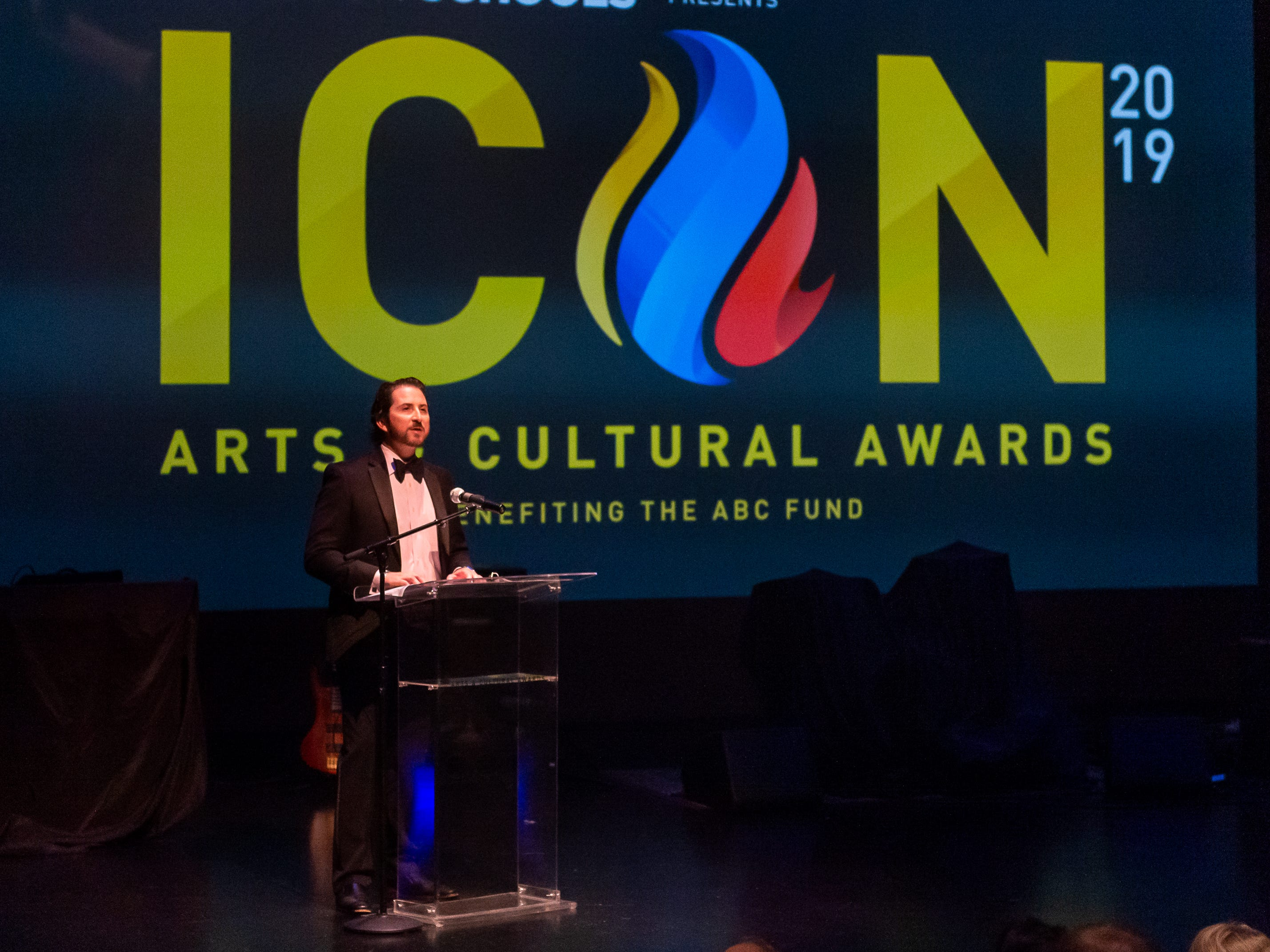 Ben Berthelot speaking at The 2019 Icon Arts & Cultural Awards Gala honoring Acadiana's Legends. Thursday, April 11, 2019.