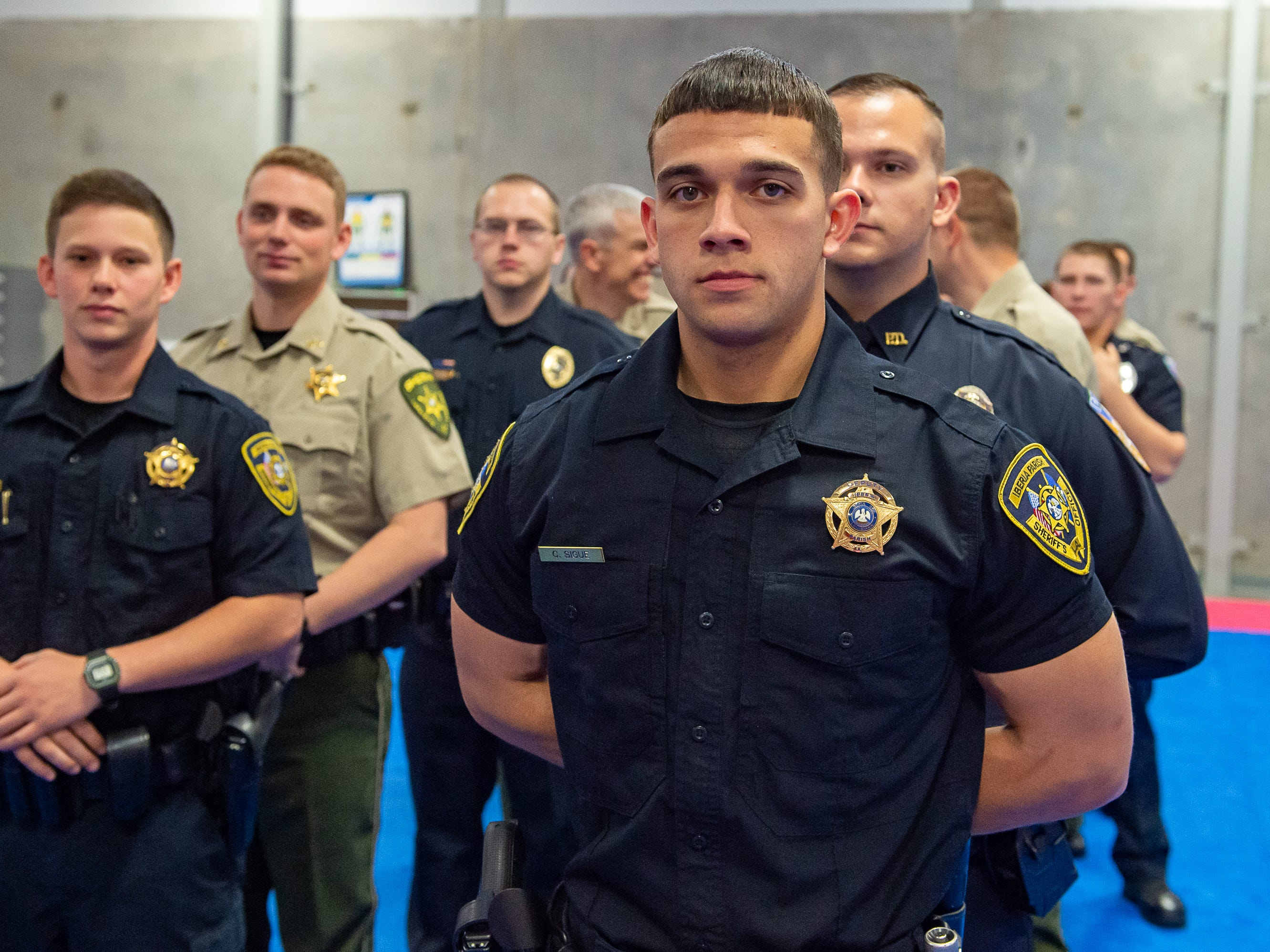 Colby Sigue at the Graduation of Acadiana Law Enforcement Training Academy Class 159. Friday, April 12, 2019.