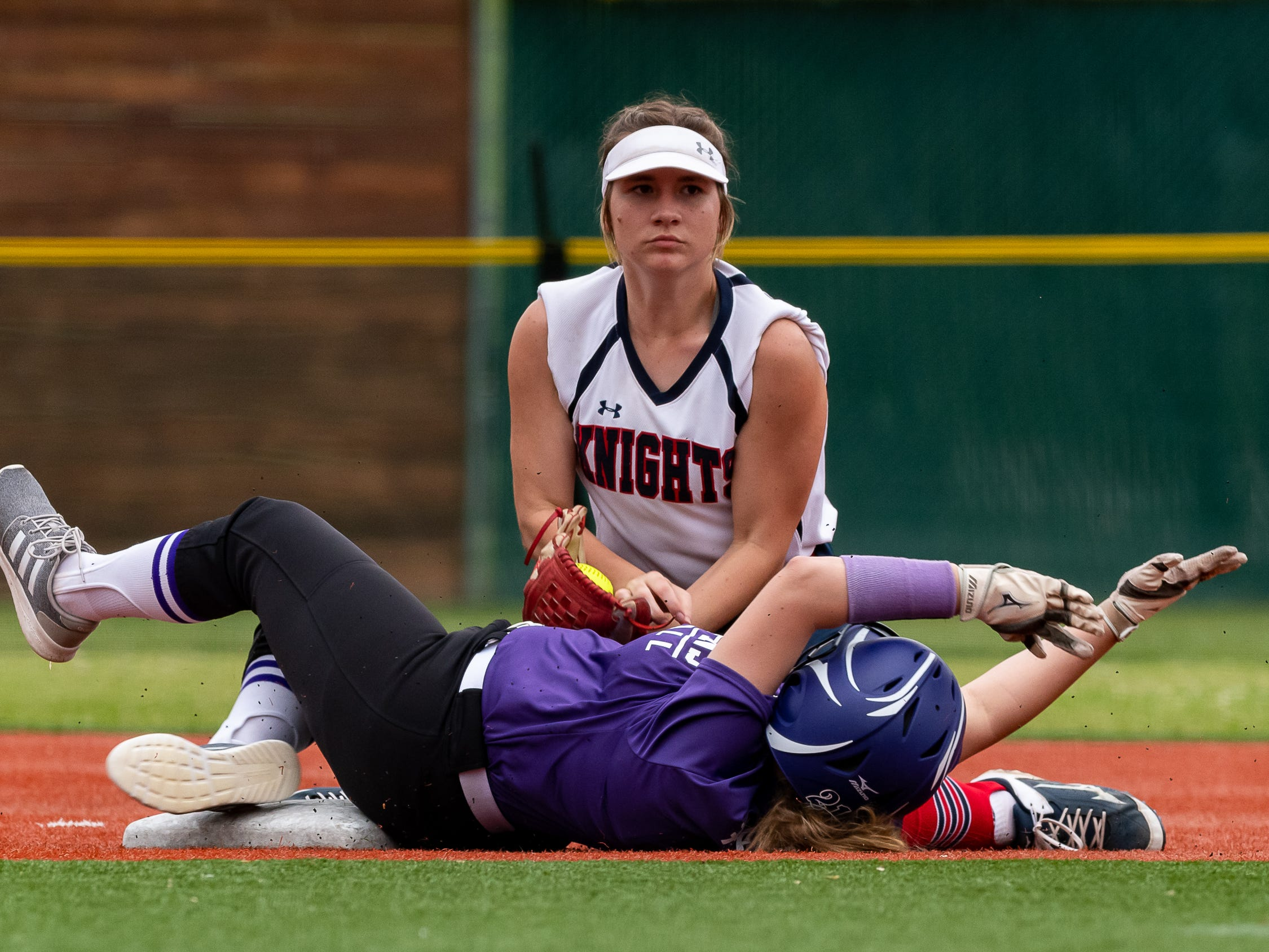 Lafayette Christian Academy softball takes on University Academy in the forst round of the LHSAA playoffs. Friday, April 12, 2019.
