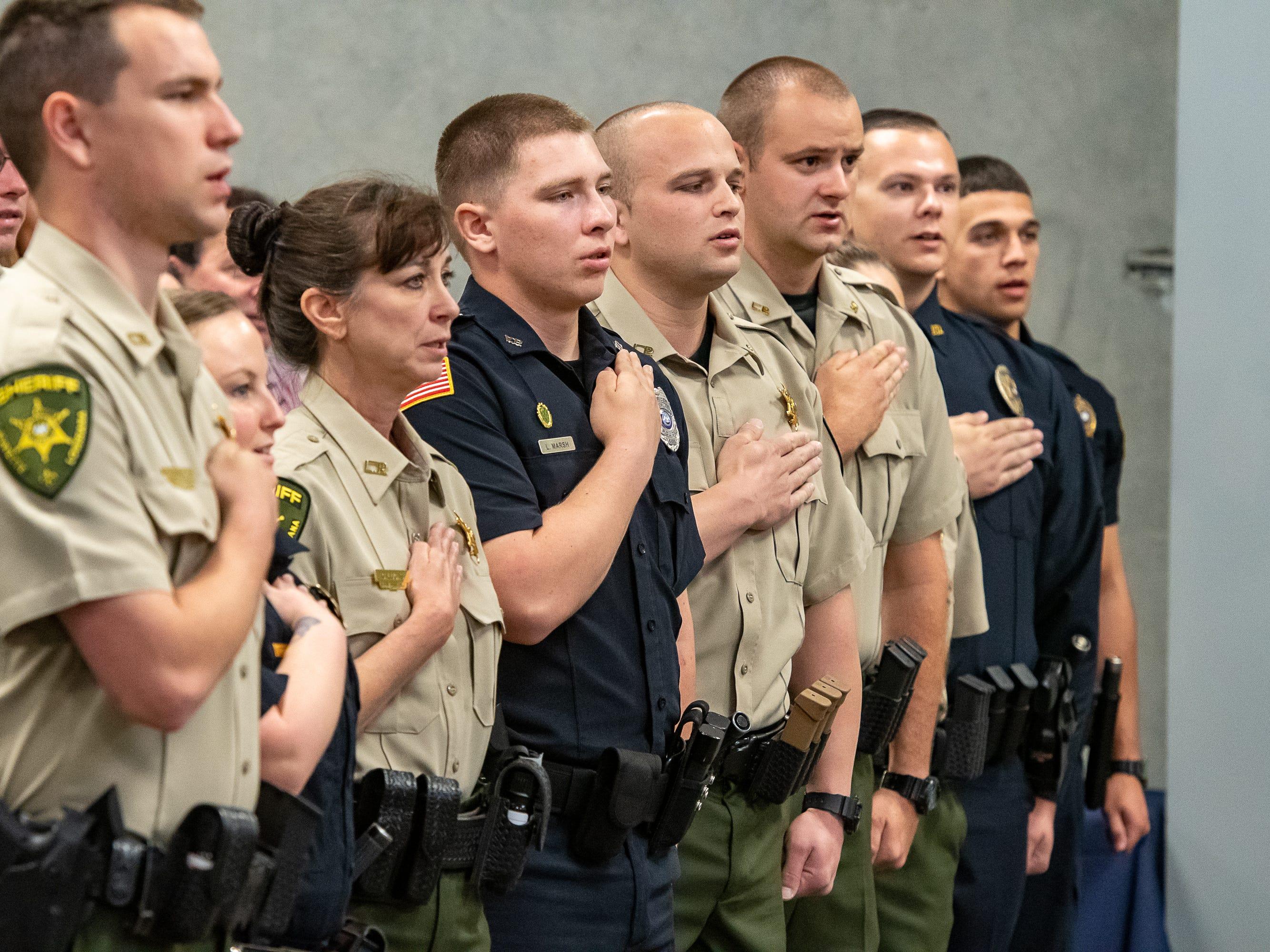 Graduation of Acadiana Law Enforcement Training Academy Class 159. Friday, April 12, 2019.